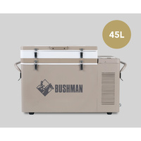 Bushman 35-52 Litre fridge / freezer, includes three Baskets, 12/240 converter and travel cover