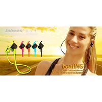 Jabees Beating Sports Bluetooth 4.1 Earphone Headset Waterproof Headphone + Mic