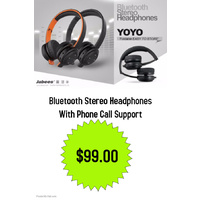 Bluetooth Jabees YOYO Stereo Headset Earphone Headphone For Smartphone Tablet PC