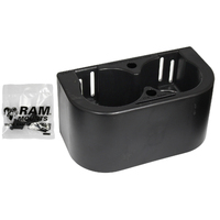 RAM-FP-CUP2 - RAM Tough-Box Console Box End Dual Drink Cup